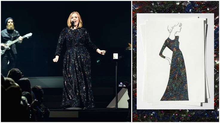 Adele on tour in Burberry
