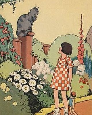Love vintage pics when they feature hollyhocks. one day I hope to have a house with hollyhock growing in the front.  #hollyhocks #1930s #vintagechildren #vintageart #vintagegarden #verityhopesworld