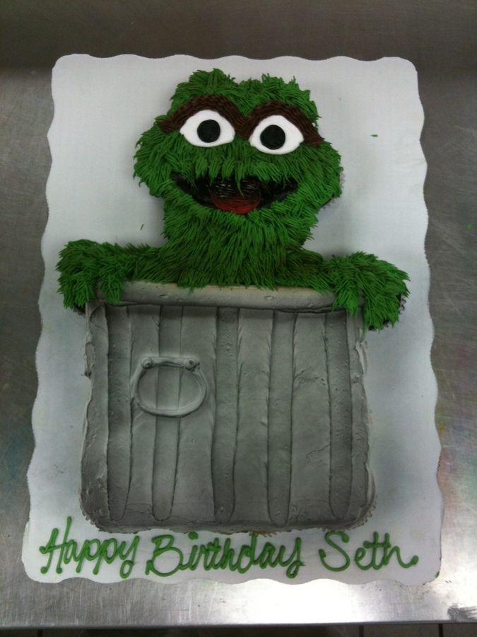Oscar the Grouch Cupcake Cake