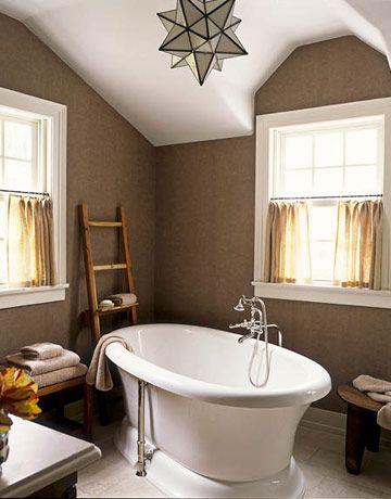 Calming: Wall Colors, House Beautiful, Bathroom Colors, Decorating Bathrooms, Paint Colors, Master Bath, Bathroom Ideas, Light Fixture