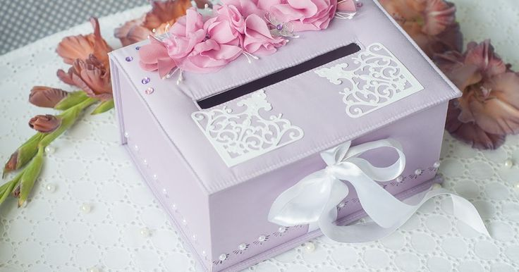 коробка для денег на свадьбу, коробочка для колец в загс, свадебные аксессуары ручной работы, сиреневая свадьба
