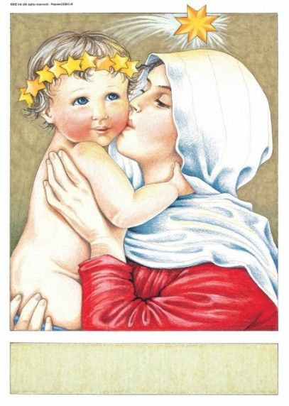 Love the Newborn Jesus and Blessed Mother Mary ~~ and Love the Artwork by ©Mary Engelbreit