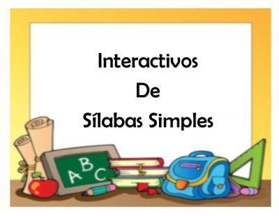 Material interactivo para trabajar las sílabas para preescolar y primaria -Orientacion Andujar