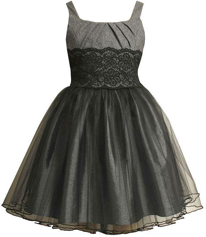 Girls Denim Dresses Bonnie Jean Pleated Lace Dress Girls