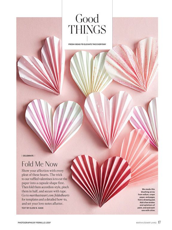 image result for pleated hearts from martha stewart