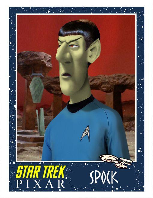 Pixar Style STAR TREK Fan Art - GeekTyrant.  Spock never looked better!