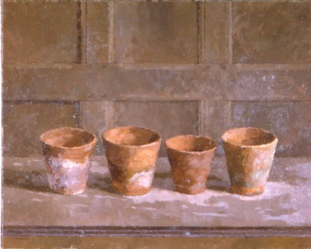 Four Flowerpots (1975) by John Morley