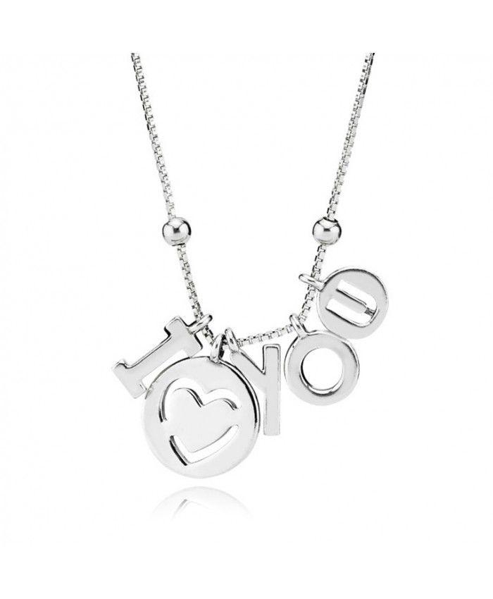 Pas Cher Pandora Collier I Love you | Pandora, Collier, Boucles