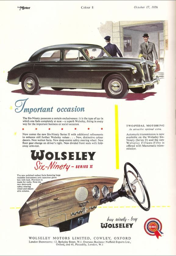1956 Wolseley Six Ninety Car Advert
