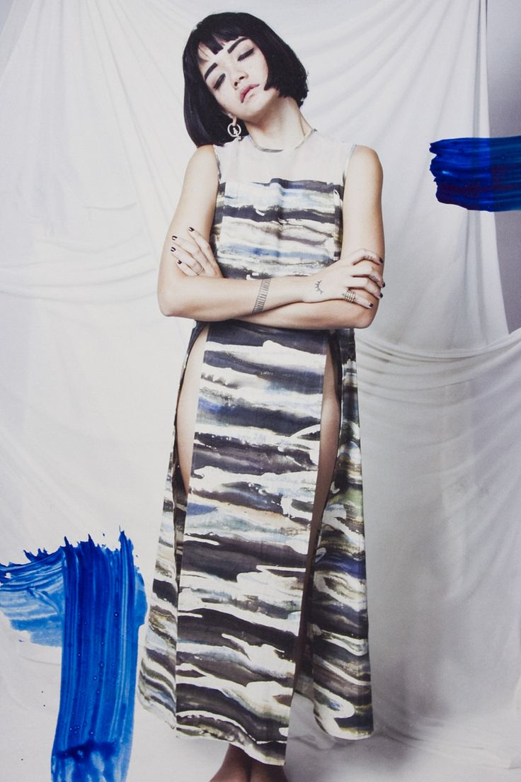 Dyla Sada in our Camouflage Maxi Top. : Sally & Emily #naturaldye #wabisabi #imajistudio #imajistudiolooks #campaign #mixmedia #dongengalamvol1 #madeinindonesia