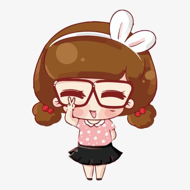 Vector Cartoon Girl Cute Cartoon Girl Cute Girl Girl Png And Vector With Transparent Background For Free Download Cute Cartoon Girl Cartoon Clip Art Cute Cartoon Characters