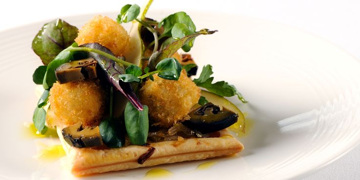 Cornish based chef, Nathan Outlaw combines a chicory tart recipe with a divine pear and walnut salad recipe and deep fried blue cheese