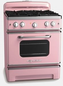 Fogão rosa.: Vintage Appliances, Vintage Stove, Retro Appliances, Dreams Kitchens, Color, Kitchens Appliances, Retro Style, Retro Kitchens, Big Chill