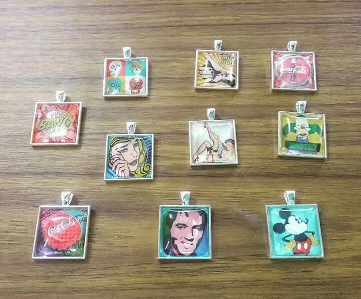 Some funky retro style pendants to sell at Orange Daze in Grafton 😀