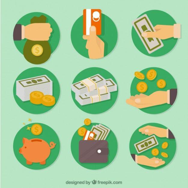 Economy icons Free Vector