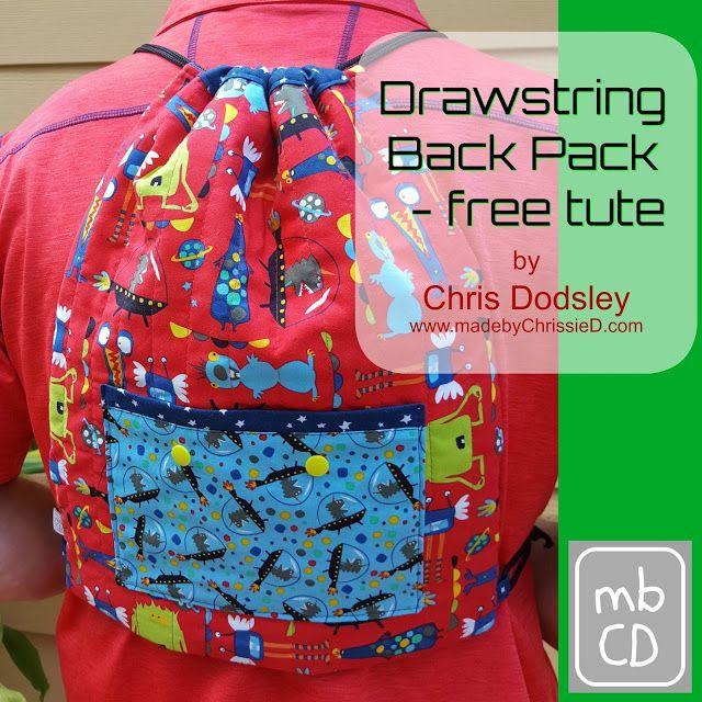 Drawstring Backpack - tutorial