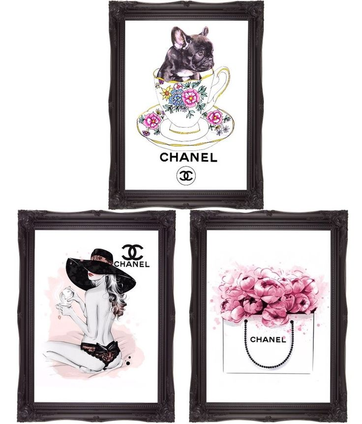 French bulldog art teacup art girl with hat art floral bag 3 A4 print wall art  in Art, Direct from the Artist, Prints | eBay!