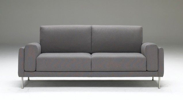 A squared, open base, compact design and slender legs give Link its modern look. This comfortable sofa, ideal for apartment living is available in two- and three-seat versions, as well as an armchair and loveseat. To maintain its compact size, as armchair, Link changes the shape of the armrests that become asymmetrical and thinner.  Dimensions  79 inches width  36 inches depth