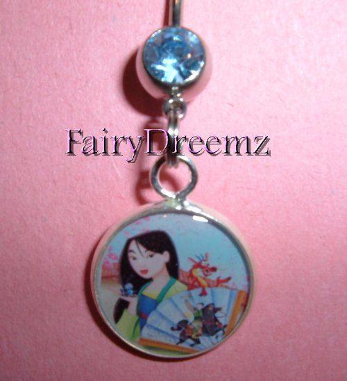 MULAN China's Princess Disney Belly Navel Ring by FairyDreemz