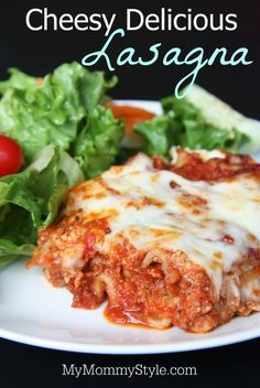Easy and Cheesy lasagna recipe with homemade tomato sauce. We use whole grain noodles to make it healthier. This is a great recipe when you're feeding a crowd or the perfect potluck recipe. It's easy to make this vegetarian lasagna too! This recipe is a keeper!