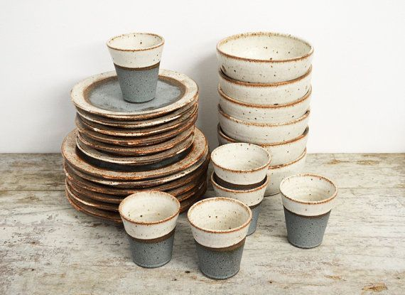Image result for dinner plates rustic industrial
