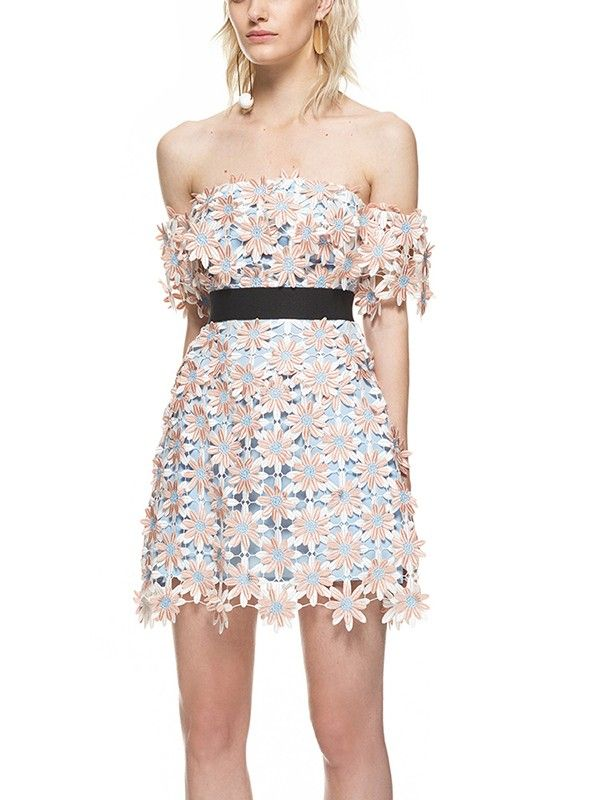 Fresh Boat Neck Hollow Out Lace Smart Waist Dress mini dress | mini dress party | mini dress party night | mini dress tight | mini dresses casual | Mini Dresses | Mini Dress | mini dressform | Mini Dresses Outfit | MINI DRESS | mini dresses |