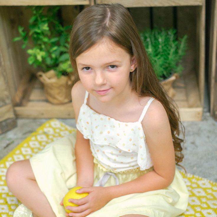 Witte top met lemonade patroon van het Spaanse merk Plumeti Rain