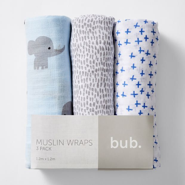 15. 3 Pack Muslin Wraps