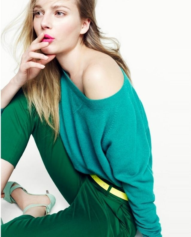 Love the colors in this Jcrew look