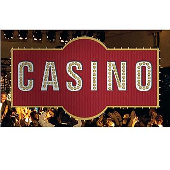 Announce your party in style with this high stakes casino sign.