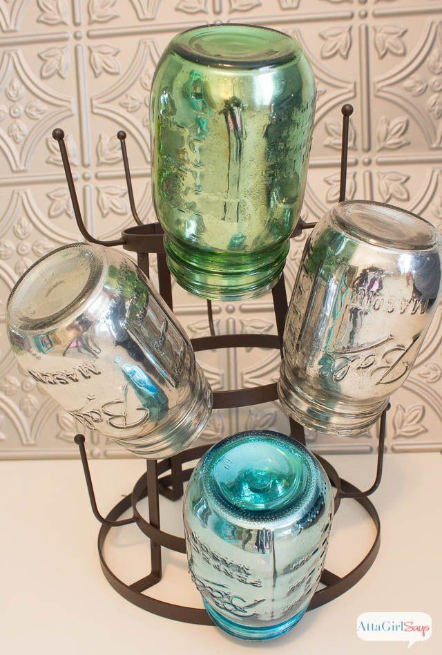 Atta Girl Says   Mirrored Mercury Glass Mason Jars and Other Mason Jar Crafts   http://www.attagirlsays.com