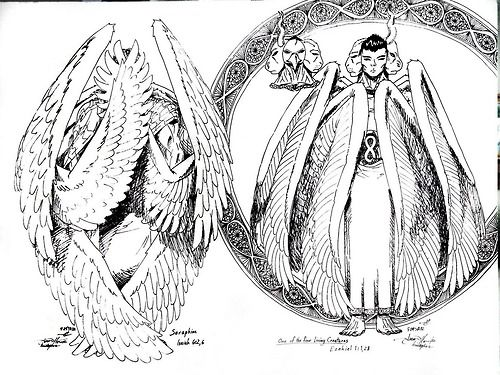 Biblical descriptions of cherubim and seraphim. | Seraphim ...