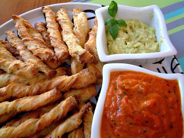 Qchenne-Inspiracje! Odchudzanie, dietoterapia, leczenie dietą: Grissini z guacamole i sosem z pieczonej papryki. Smak słonecznej Italii.