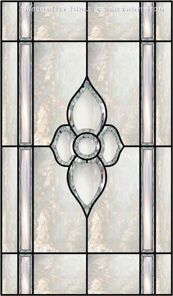 Bevel Window 4 Faux Privacy Stained Glass Clings and Window Films