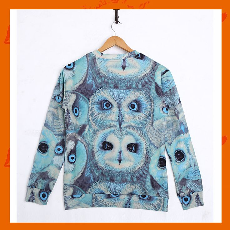 Blue Owls Hoodie Material: Polyester / Cotton Feature: Anti-Pilling, Anti-Shrink, Anti-Wrinkle, Breathable, Eco-Friendly, Plus Size, Quick Dry, Windproof Size: S/M/L