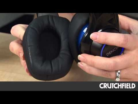 Denon AH-D400 Urban Raver Headphones with Built-in Bass Amplifier | Crutchfield Video - YouTube #Denon #headphones