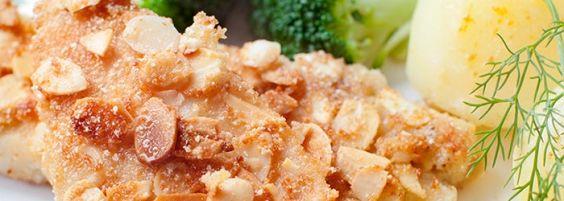 Filety z kurczaka w płatkach migdałów