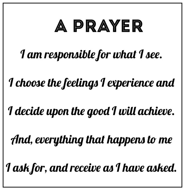 A Course in Miracles Prayer
