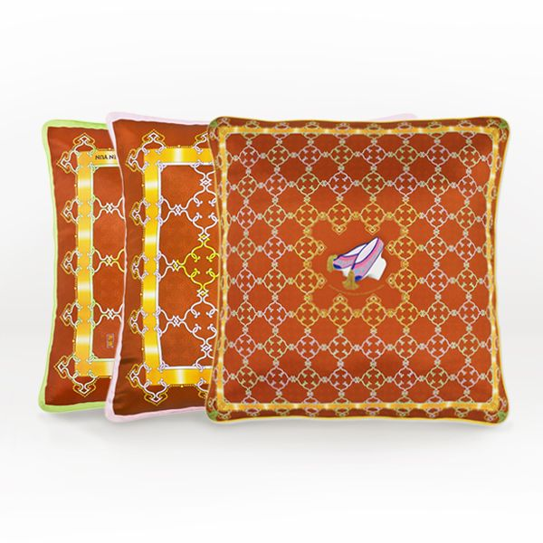 Bedeck your home with these regal Manchurian pillowcases. A regal trio that is sure to transform any room into a majestic one.