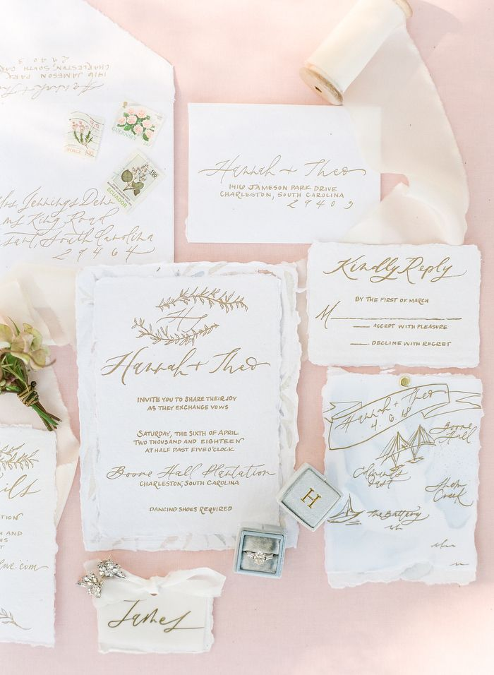 Dreamy Spring Wedding Inspiration At Boone Hall