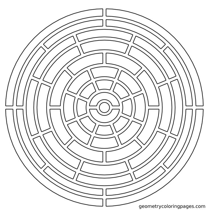 Geometry Coloring Page, Slot Maze | Adult Coloring Pages ...