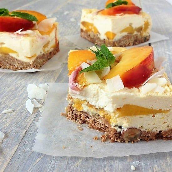 New York Cheesecake, oh my pie, perzik, zomer, glutenvrij, suikervrij, mango, citroen, ontbijt, kidsproof, recept, gezond eten, afvallen, verantwoord