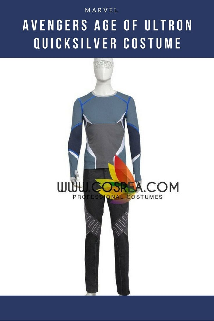 Avengers Age Of Ultron Quicksilver Cosplay Costume