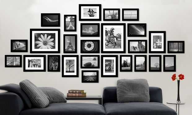 Photo Frame Set in Choice of Colour - 11-Piece ($35), 26-Piece ($49) or 30-Piece Set ($55) (Don't Pay up to $189)