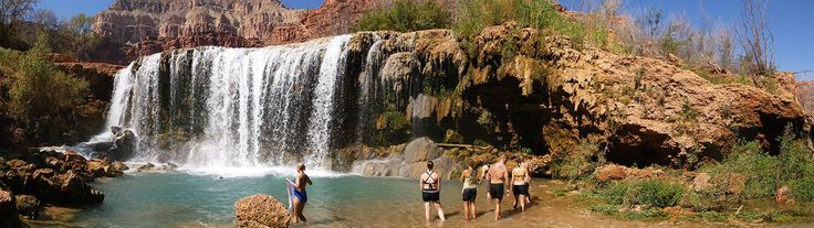 Plan your trip to the stunning Havasupai Waterfalls! Visit Havasu Falls, Mooney Falls and more - read about reservations, hiking, camping, and more!
