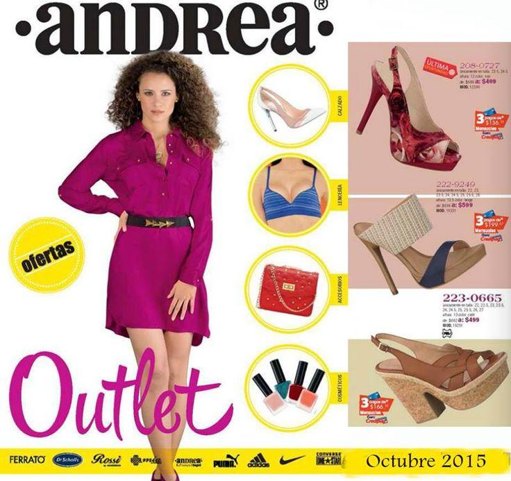 Folleto Outlet Andrea Mexico Octubre 2015