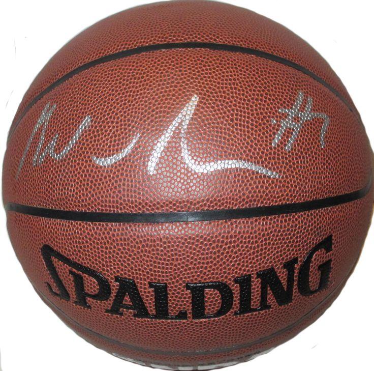 Brandon Jennings Autographed Spalding NBA Indoor / Outdoor Basketball, Proof Photo