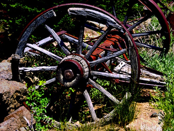 Old Wagon Wheels in Silver City, ID which is classified as a ghost town