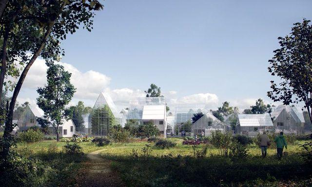 2016年夏から2017年にかけて、オランダのフレヴォラント州にある自治体アルメーレ市に、100軒の家が建設される予定です。目的は自給自足できるコミュニティを形成すること。「ReGen Village(再生の村)」と呼ばれており、場所はアムステルダムから電車で20分、距離にして約30kmほど東に行ったところ。都市から近く、その近代的なビジュアルも目を引く要因に。エネルギーは、地熱、太陽光、太陽光熱