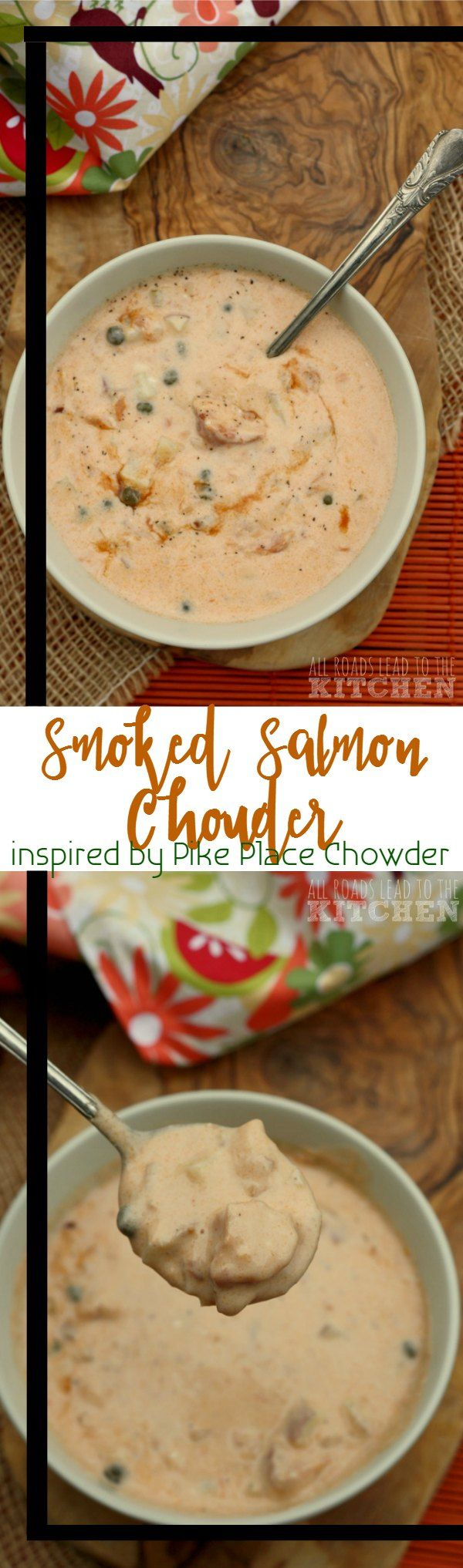 Smoked Salmon Chowder, a Pike Place Chowder copycat recipe